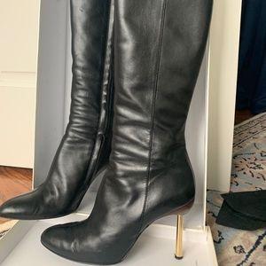 Gianni Versace Stivale in Vitello Black Boots